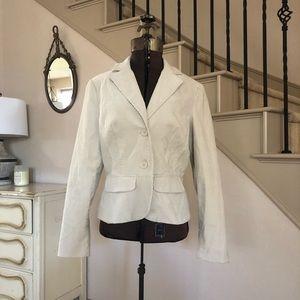 Zara Basic Tan Corduroy Blazer Beige Jacket